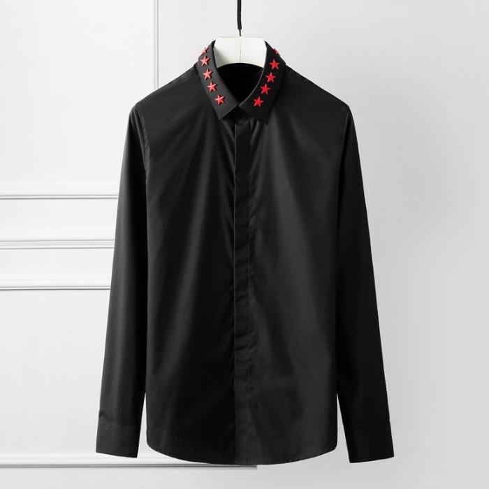 107781 시그니처 스타비조라인 히든버튼 셔츠 (2Color)