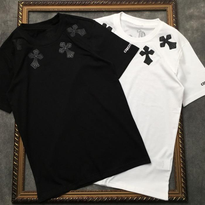 107868 시그니처 크로스 엠브로이드 하프 티셔츠 (2Color)