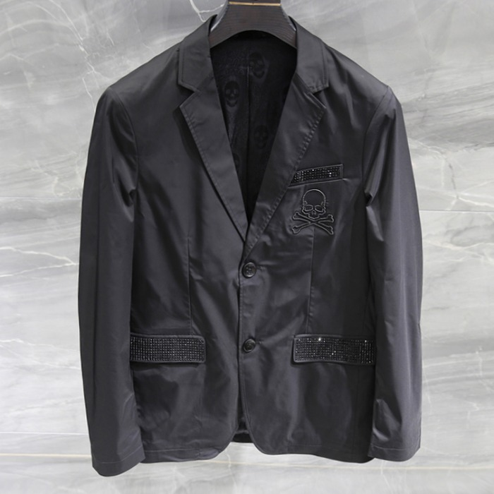 108158 시그니처 데스스컬 비조포인트 자켓 (Black)