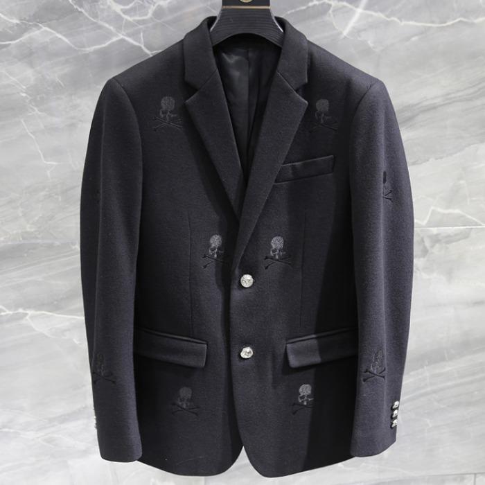 108144 시그니처 스컬라인 패턴포인트 자켓 (Black)