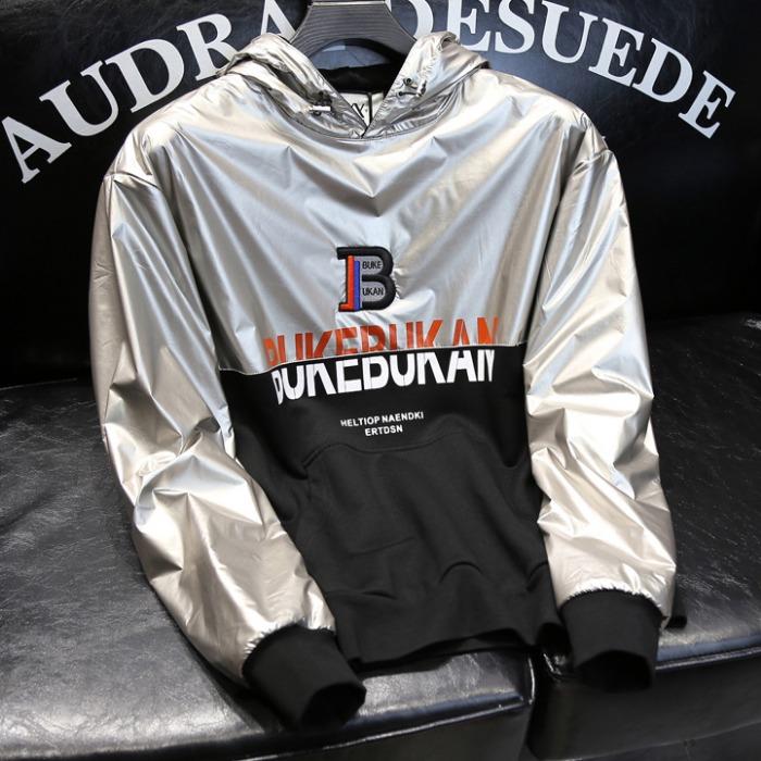 108205 고저스 유니크라인 윈드브레이커 후드 티셔츠 (Silver)