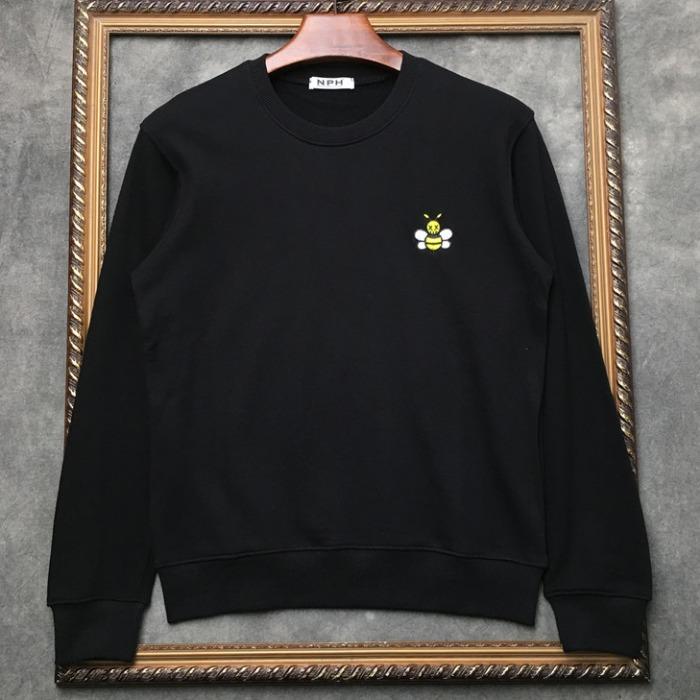 108308 데스꿀벌 엠브로인드 포인트 맨투맨 티셔츠 (2Color)