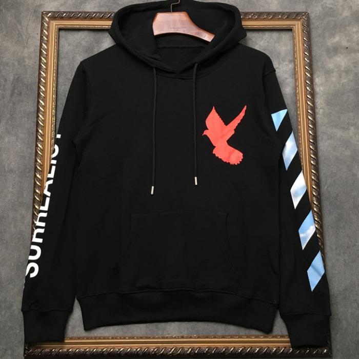 108290 시그니처 스카이 버드프린팅 후드 티셔츠 (Black)