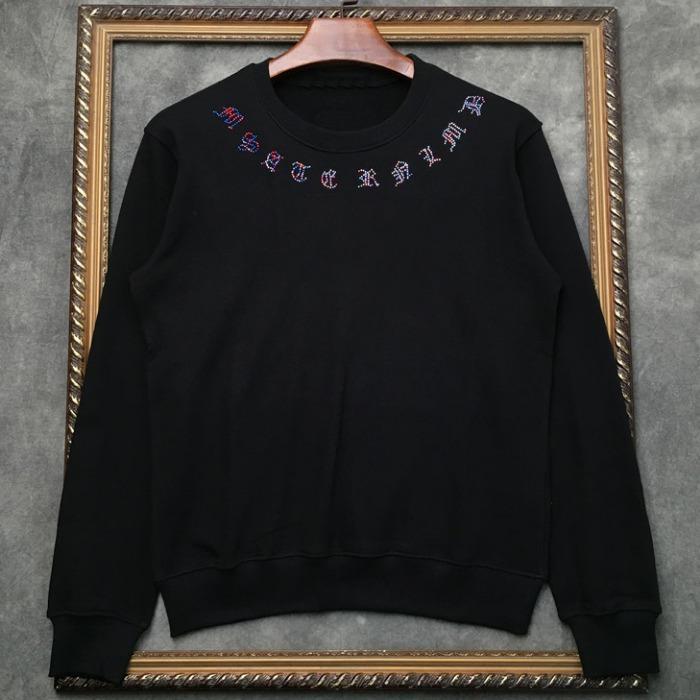 108334 시그니처 데스스컬 베이퍼라인 맨투맨 티셔츠 (Black)