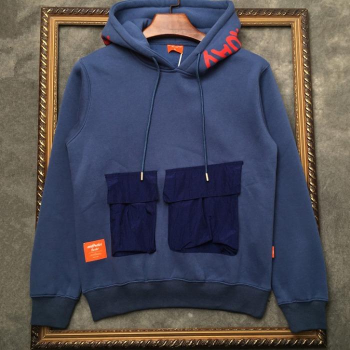 108302 유니크 그래피티라인 포켓포인트 후드 티셔츠 (3Color)