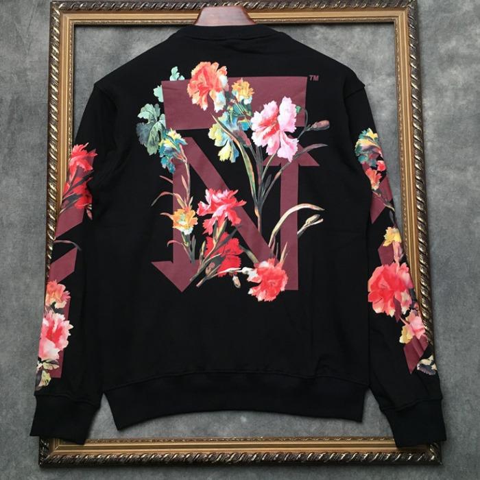 108314 시그니처 로고포인트 플로랄 맨투맨 티셔츠 (2Color)