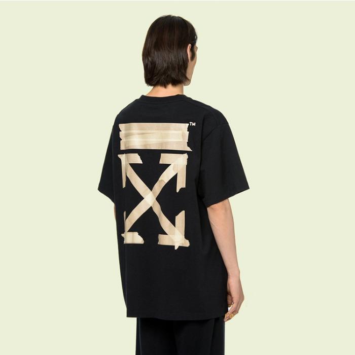 108852 유니크 에로우 테잎 스트릿 반팔 티셔츠