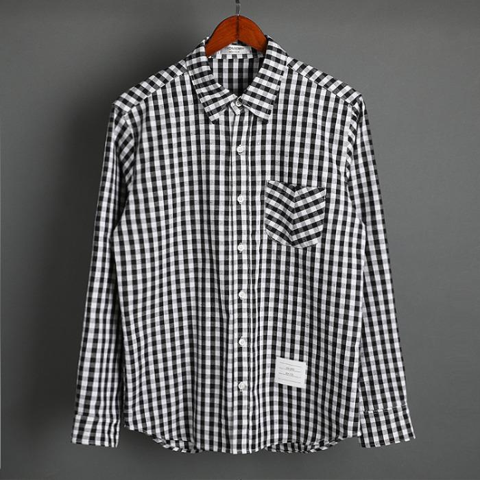 109581 시그니쳐 깅업 체크 포켓 긴팔 셔츠