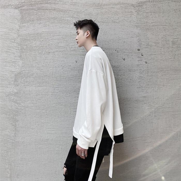 110103 루즈핏 레이어드 로프 포인트 긴팔 티셔츠