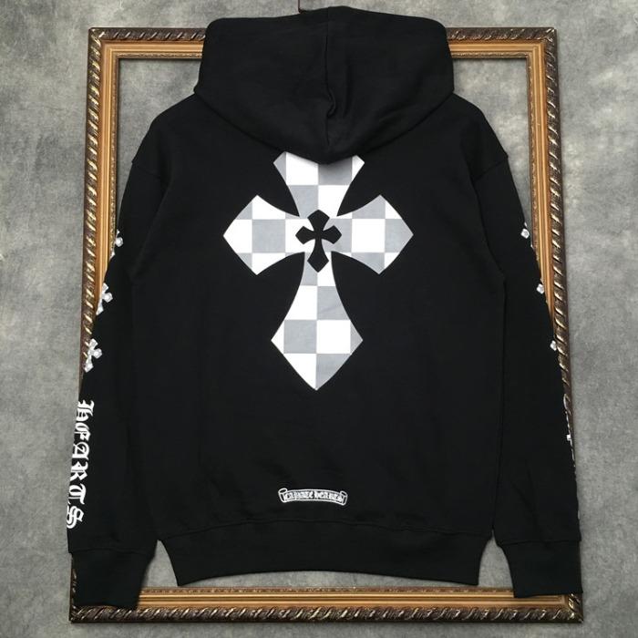 110360 크로스 첵크 후드 티셔츠(2Color)