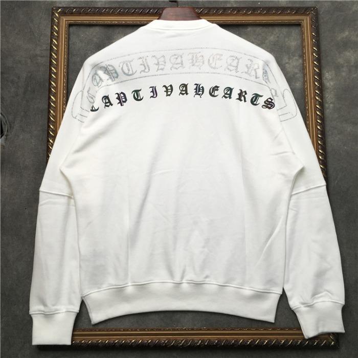 110242 레인보우 리플렉션 프린팅 라운드넥 맨투맨 티셔츠
