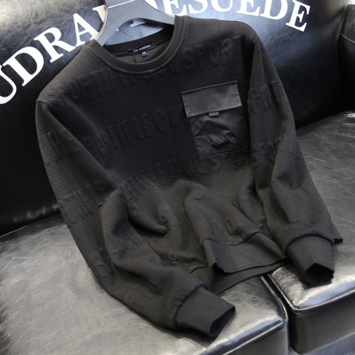 110196 빅 포켓 포인트 라운드넥 맨투맨 티셔츠