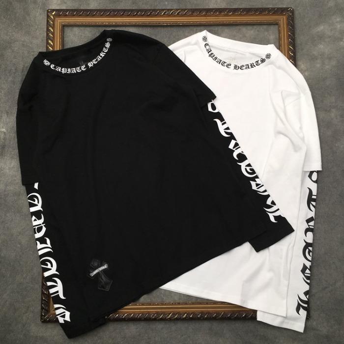 110655 넥라인 레터링 맨투맨 티셔츠(2Color)