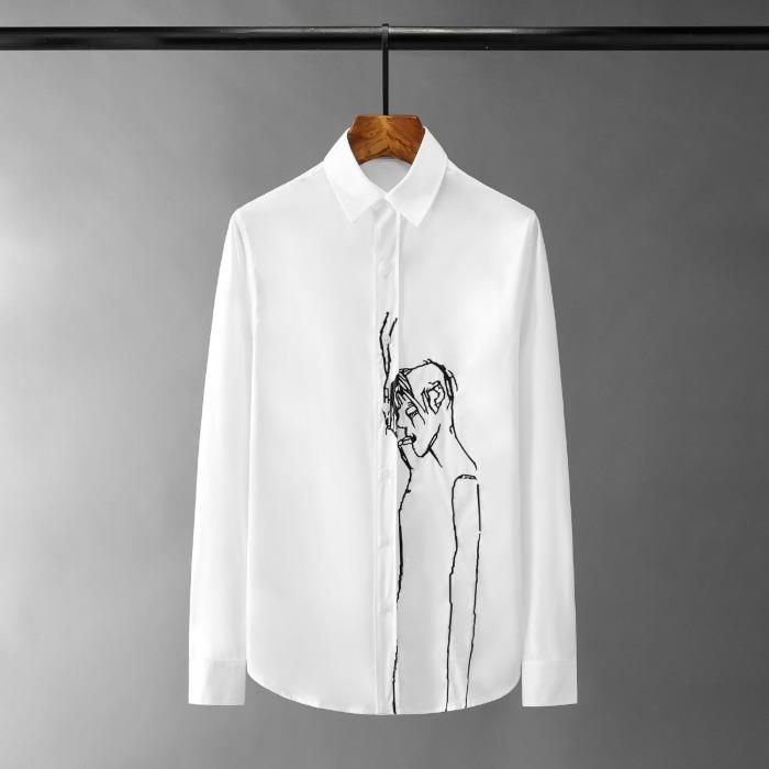 110988 스모커 자수 포인트 긴팔 셔츠(2Color)