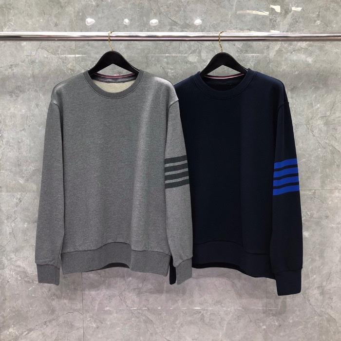 111195 TH 사선 포인트 라운드넥 맨투맨 티셔츠(2color)