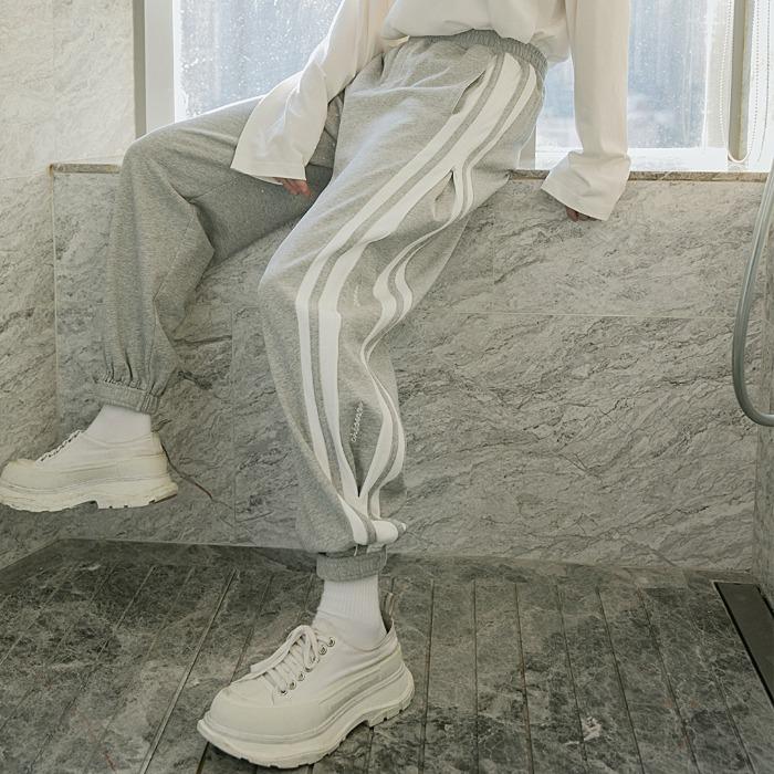 111357 사이드 배색 절개 조거 트레이닝 팬츠(2color)