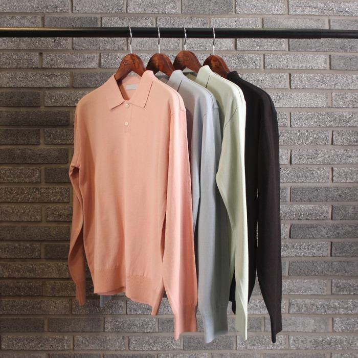 111269 파스텔 카라 울니트 티셔츠(4color)