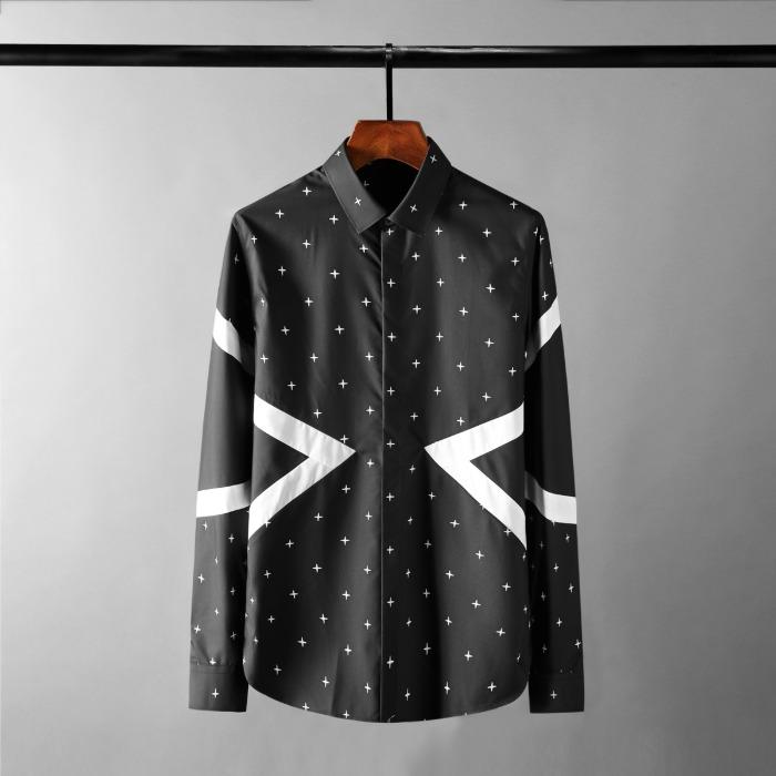 111642 NE 스타 도트 배색 긴팔 셔츠(2color)