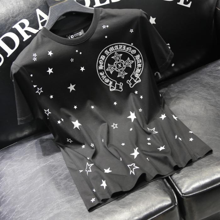 111797 스타 레터링 프린팅 반팔 티셔츠(3color)