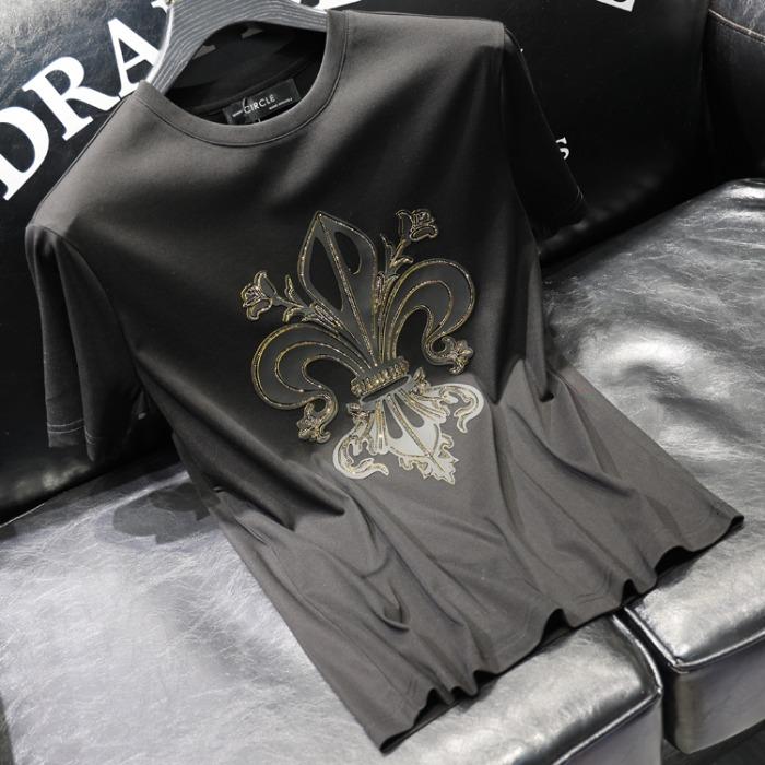111765 골든 대거 전사 프린팅 반팔 티셔츠(2color)