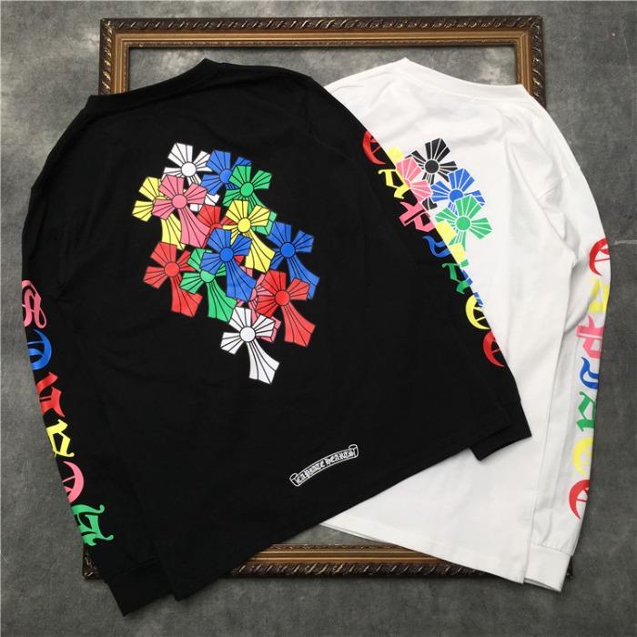 111921 컬러풀 레터링 크로스 맨투맨 티셔츠(2color)