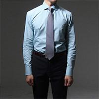 75021 프리미엄 소프트 체크 와이드카라 셔츠 (Green)