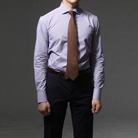 75024 프리미엄 커스텀 와이드 카라 체크 셔츠 (Brown)