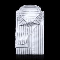 75038 프리미엄 핀 스트라이프 패턴 셔츠 (White)