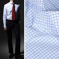 75040 프리미엄 미디움 체크 패턴 셔츠 (Blue)