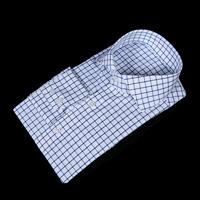 75042 프리미엄 윈도우 체크 패턴 셔츠 (Blue)