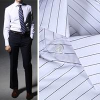 75053 프리미엄 세미포멀 스트라이프 셔츠 (Black)