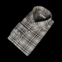 76098 No.35 프리미엄 모던 클래식 캐쥬얼 체크 셔츠 (Khaki/95)