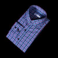 76138 No.52 프리미엄 클랜 타탄 체크 패턴 셔츠 (Blue)