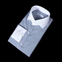 76151 No.65 프리미엄 클레릭 드레스 셔츠 (Blue Gray)