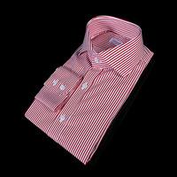 78285 No.80 프리미엄 와이드카라 잔 스트라이프 셔츠 (Red)