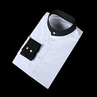 79855 No.85 솔리드 차이나 배색 셔츠 (White)