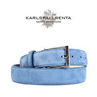 -K.S- 84302 italy ramd sikn 스웨이드 클래식 벨트 (Light Blue)