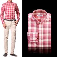 84283 No.19-a 프리미엄 체크 셔츠 (Pink)