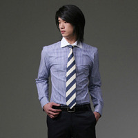 86039 No.38-a 카라배색 스트라이프 셔츠 (2Color)