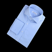 86043 No.40-a 플레인 커프스 셔츠 (Blue)