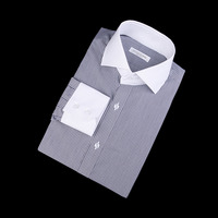 87582 No.62-a 배색 스트라이프 셔츠 (Gray)