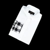 87681 팔배색 체크 셔츠 (White)