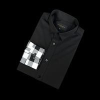 87682 팔배색 체크 셔츠 (Black)