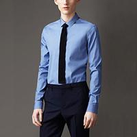 89019  프리미엄 솔리드 셔츠 (Blue/2Type)