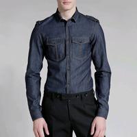 90493 투포켓 데님 셔츠 (Dark Grey,Dark Blue/95/100/105)