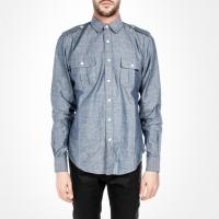 91626 견장 투포켓 셔츠 (Blue)