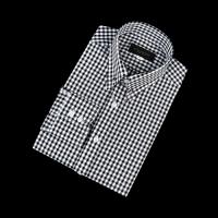 92159 No.02-B 블록 체크 칼라바 전용 셔츠 (Black)