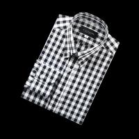 92176 No.06-B 블록 체크 칼라바 전용 셔츠 (Black)