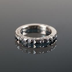 92711 CH 다이아 톱니 레터링 반지 (Silver)