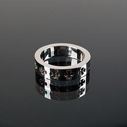 92716 CH 크로스라인 포레버 레터링 반지 (Silver)